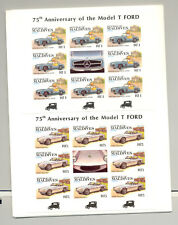 Maldives #990-995 Automobiles 6v M/S of 8 Imperf Proofs Mounted in Folder