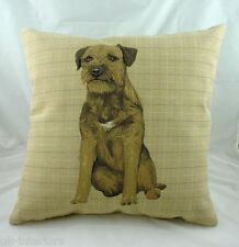 "18"" Border Terrier Puppy Dog Belgian Tapestry Cushion LB037"