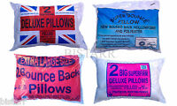 RANGE OF PILLOWS Deluxe Pair, Bounce Back, Extra Large, Super Firm Quilted - NEW