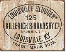 """Louisville Slugger"" 125, Baseball, Vintage/Retro, Tin Sign 12"" X 16"""