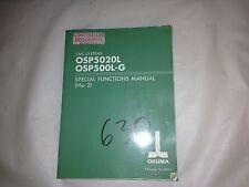 Okuma Special Functions Manual (No. 2) Osp5020L, Osp500L-G