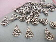 20 X BUDDHA SILVER COLOR TIBETAN METAL CHARMS/PENDANTS