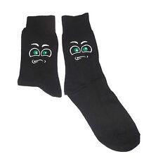 Indecisos cara con ojos verdes de calcetines de color negro, Gran Novedad Regalo