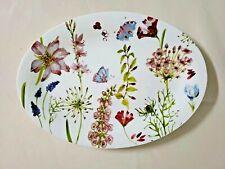 Grace Tea Ware Fine Porcelain Wildflower Floral Oval Serving Platter New