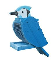 Blue Jay Shaped Wooden Bird Feeder - Amish Made in Usa