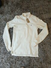 All Saints Men's Long Sleeved polo shirt in chalk. Top. Size XS.