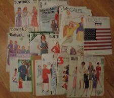 17 women's patterns McCalls Simplicity Butterick vintage 1970s Christie Brinkley