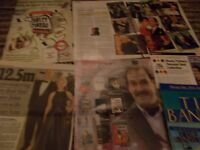 JOHN CLEESE CELEBRITY  CLIPPINGS PACK  GOOD CONDITION