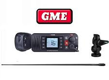 GME GX700B GX700 VHF MARINE RADIO BLACK+AW364VB BLACK 1.2M ANTENNA+ BASE PACKAGE