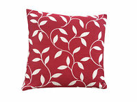 Retro Red Cream /Beige leaf design Mirage scatter cushion cover/Pillow case