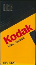 NEW (2) SEALED Vintage Blank Kodak T-120 6 Hour Video Cassette Tape VHS Lot Of 2