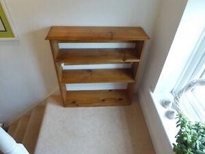 Modern Vintage Free Standing Pine Three Shelf Open Bookcase 81cm x 22cm x 87cm.