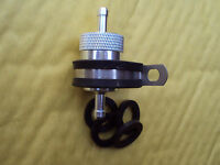 """6mm 1/4""""  CNC Alloy Inline Reusable Fuel Filter, Spare Seals & Stainless Bracket"""