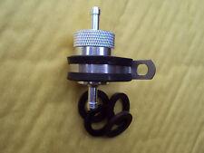"""6mm 1/4"""" CNC in lega InLine riutilizzabile filtro carburante, guarnizioni di ricambio & STAFFA INOX"""