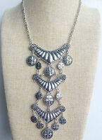 Silver Tibet Boho Chic Vintage Style Bohemian Mexican Gypsy Tassel Necklace UK