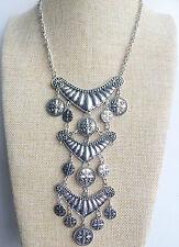 Plata tibetana indio gitano Vintage estilo bohemio mexicano Borla Collar