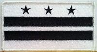 Washington, D.C. Tactical Flag Iron On Patch Black & White MC Biker Emblem