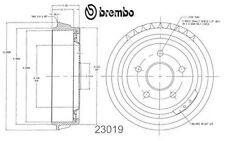 23019 2 Brembo Rear Brake Drums fit Bronco Ranger Non Chinese made