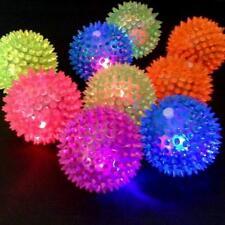 1Pcs Flashing Hedgehog Ball Light Up Spikey Novelty Sensory High Bouncing Balls