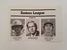 Junior Ortiz Buffalo Bisons Mark Davis Reading Phillies  1981 SportNews Panel