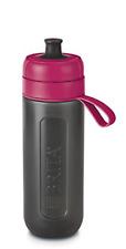 Brita Fill et Go Active filtre à eau Bouteille, Plastique, rose, 7.6 x 8 x 25.5
