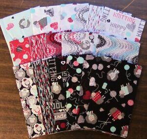 19 Fat Quarters - All You Knit is Love - Benartex - 100% Cotton E3265