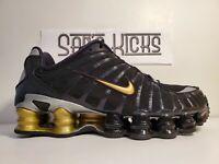 Nike Shox TL Neymar Jr. BLACK/METALLIC GOLD BV1388-001 US SIZE 8