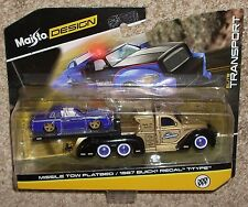2017 Maisto Elite Transport Missle Tow Flatbed Truck W/ 1987 Buick Regal T-Type