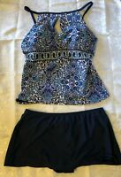 NWT Ellen Tracy Tankini & Bottom Set Sea Worthy Size 10