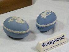 """Wedgwood Blue Jasper Ware""  matching Easter Egg Trinket Box's, great price !!!"