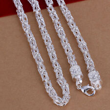 Wholesale 925White Gold Plated Noble Down Dragon Head Chain 20inch Necklace N048