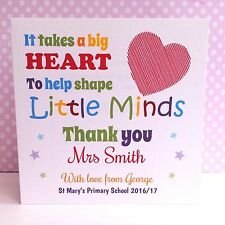 Personalised Teacher - It Takes A Big Heart To Shape Little Minds THANK YOU Card