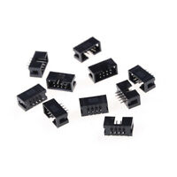 10x DC3-8P 2.54mm 2x4 Pin Straight Male Shrouded header IDC Socket*~*