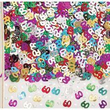 14g Multicolore metalique 60 60TH ANNIVERSAIRE CONFETTIS TABLE dispersion