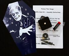 DIY Coffin Wall Clock Kit - 25.5cm High - Lon Chaney Snr - Different but Wierd
