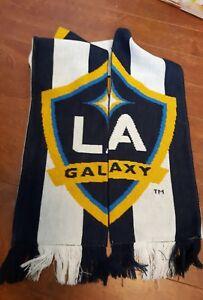 Los Angeles MLS LA Galaxy Adidas Reversible Acrylic Winter Scarf fringe