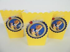 Beauty and The Beast Party favors/ popcorn/ candy box/ goodie bag SET OF 10