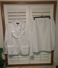 Danillo Studio Women's 22W White Church Suit 2-Piece Jacket & Skirt Lined Poly.