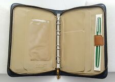 Vintage Pilot Pocket Planner Organizer Ring binder Black Vinyl Pen office Japan