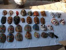 LOT OF 31 VINTAGE COLLECTABLE MASKS - FREE SHIPPING CONTINENTAL USA ONLY