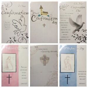 CONFIRMATION CARD / FIRST HOLY COMMUNION CARD including relatives ($)