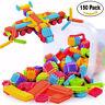 150pcs Lots Bristle Shape 3D Building Blocks Tiles Construction Playboards Toy