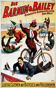 Barnum & Bailey Circus 4, Old Vintage Ad, Magic, Antique, HD Art Print or Canvas