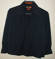 Men's Used Shirt, Nyne, New York New Energy, Size 16 (32-33) L, Modern fit, Blac