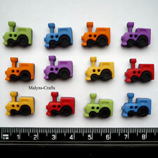 SEW CUTE TRAINS Craft Buttons 1ST CLASS POST Novelty Sewing Boy Toy Dress It Up