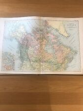 1897, Map of CANADA, Bacon's Popular Atlas Of The World