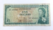 East Caribbean Currency Authority Five 5 Dollar Circulated Bank Note H170