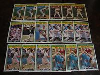 1988 Topps Kaybee--Superstars Of Baseball--Lot Of 18--Dupes--Stars Only--NrMt