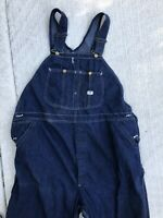 Vintage Lee Denim Overalls Sanforized Jelt Jeans 40x28 Dark Blue USA Workwear
