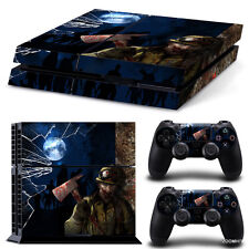 PlayStation 4 PS4 Console Skin Decal Sticker Zombie Horror + 2 Controller Skins